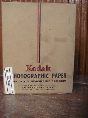 """Vintage Kodak Photographic Paper 4"""" x 5"""" 144 Sheets From the 1950s Sealed"""