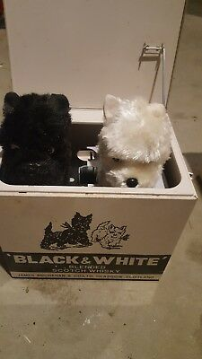 Black & White Scotch - Animated Dogs In Metal Box-Works Great *rare*