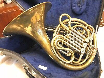 Vtg Holton 77 Double French Horn,Good condition, fixed horn+ case, free shipping