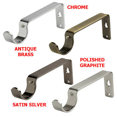 Speedy 28Mm Curtain Pole Wall Bracket Pole Fixed Support Sold In Pairs 4 Colours
