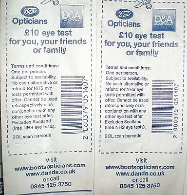 FANCY TO SAVE MONEY? Money off COUPON VOUCHERS: Boots Opticians
