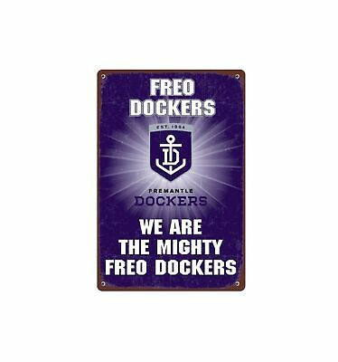 Fremantle Dockers Replica Tin Sign Decal Sticker Official AFL