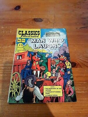 CLASSICS ILLUSTRATED COMIC No. 71 The man Who Laughs