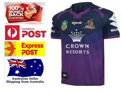 Melbourne Storm NRL 2017 Home Jersey - Brand NEW - Mens Sizes