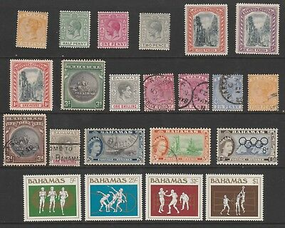 Bahamas 1884 Onwards Qv Sg53-682 Lovely Selection Of Mint And Used Stamps