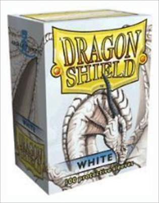 Dragon Shield Sleeves - WHITE - Standard Size Deck Protectors 100 ct [Toy]
