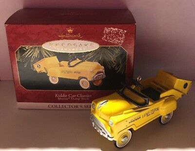 Hallmark Keepsake Ornament Murray Dump Truck Kiddie Car Classics Yellow 1997