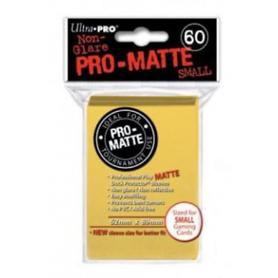 Ultra Pro Deck Protector - 60 Pro-Matte Yellow Small Size Sleeves - Japanese