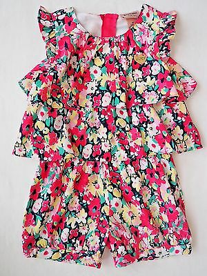 NEW JUICY COUTURE Toddler Girl Floral Party Romper Spring - Size 3T