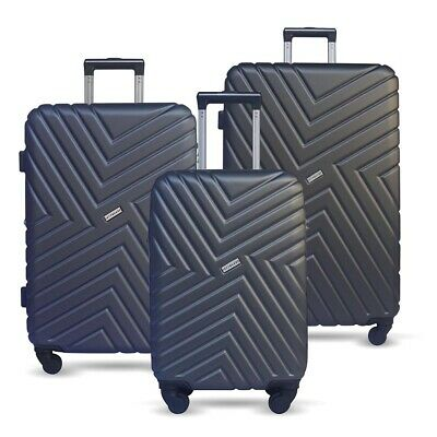 3pc Luggage Suitcase Set TSA Travel Carry On Bag Hard Case Lightweight