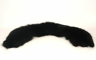 Thick Plush Real Fur Collar- Unknown type, possible mink or sable