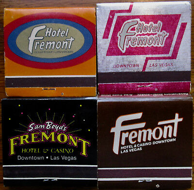 Four Vintage Fremont Hotel & Casino Matchbooks Las Vegas - With Matches