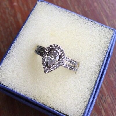 Genuine 18ct White Gold engagement Set