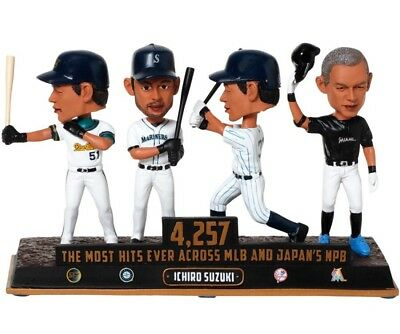 "ICHIRO SUZUKI Mariners/Yankees/Marlins ""Most Hits"" EXCLUSIVE Bobblehead #/360"