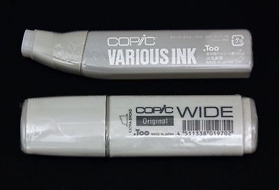 .Too Copic WIDE Original Marker Pen & Gray Tone Achromatic Color Various Ink Set