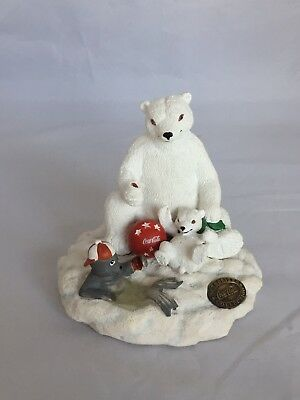 Coca-Cola Authorized Collection Polar Bear With Cub And Seal