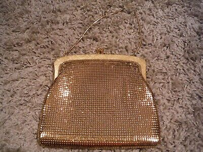 OROTON Gold Metal Mesh Evening Bag, IMMACULATE.