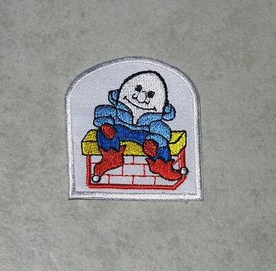 2 x Iron on Patches Humpty Dumpty Wall Kids Nursery Rhyme Craft Patches DR1-502