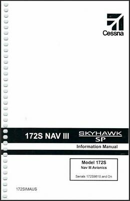 Cessna 172S Nav III G1000 with KAP140 POH Information Manual