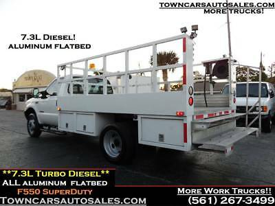 Ford F550 7.3L TURBO DIESEL Flat Bed Utility Service Stake Truck FLATBED TRUCK