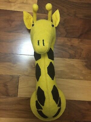 Fiona Walker England Large Felt Giraffe Head