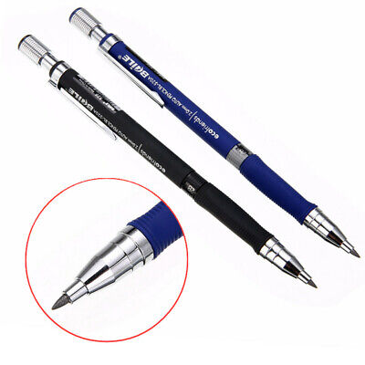 2x Black + Blue Lead Holder Drafting Drawings Study Stationery Mechanical Pencil