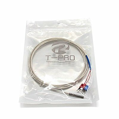 T-PRO RTD PT100 Temperature Sensors Three-wire System,Stainless Steel 3.3Feet