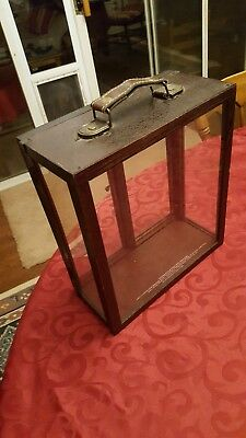 Wild Turkey Rare Breed Vintage Display Case with leather handle and metal clasp.