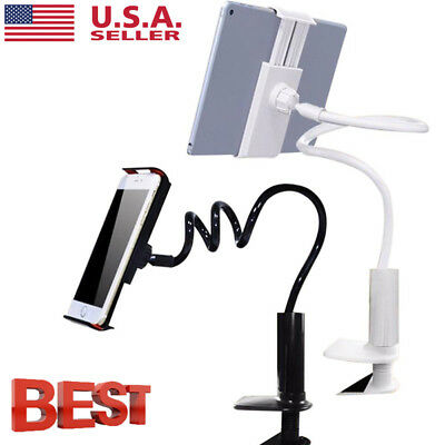 360 Lazy Bed Gooseneck Desk Mount Stand Holder For iPad Samsung Android Tablet