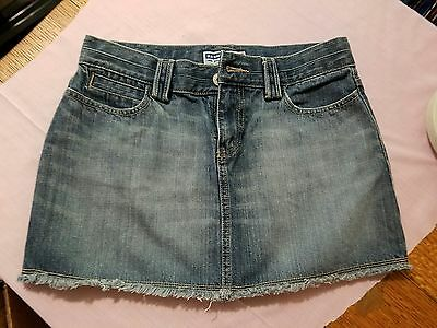Old Navy Ultra Low Waist Cutoff Denim Jean Skirt Womens 8 Women's Clothing