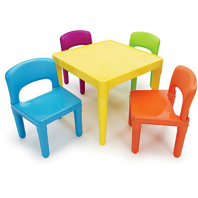 Table Chairs Kids Set Study Play Activity School Toddler Desk Multiple Colors