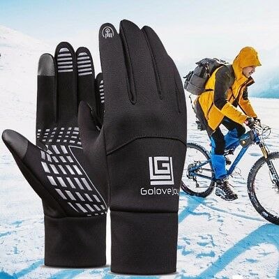 1Pair Winter Sports Gloves Outdoor Touch Screen Thermal Ski Waterproof Windproof