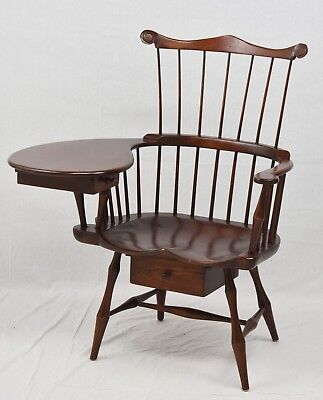 DR DIMES Windsor Comb-Back Writing ArmChair Benchmade Williamsburg Style