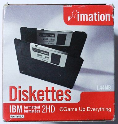 """Imation 3.5"""" 1.44MB Diskettes IBM Formatted 2HD 25 Pack NEW"""
