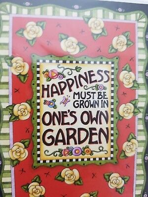 Mary Englebreit 2004 NEW 8 Note cards Stationery Happiness Grown In The Garden