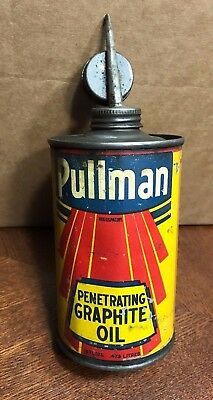 Vintage Rare Pullman Penetrating Graphite Oil Tin Can 1940-1950's