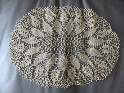 "Vintage Crochet Doily - Gold - 14"" By 11"""