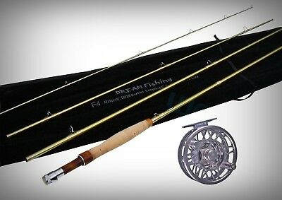 RRP $499-10ft 6/7Wt Saltwater Fly Combo Dream IM10 Carbon Rod+Kobuk 7/8Wt Reel