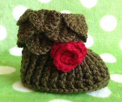 Baby Crochet Shoes AU Handmade Knitted Booties 0-6 months