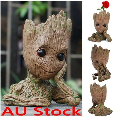 """AU Stock Guardians of The Galaxy Baby Groot 7"""" Figure Flowerpot Pen Pot Toy Gift"""