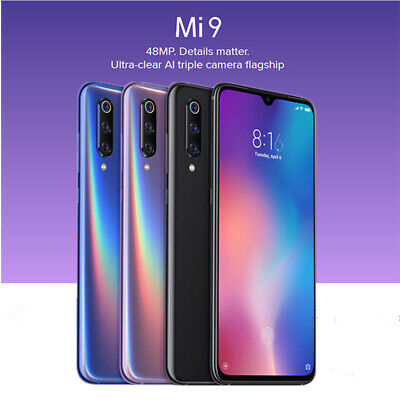 "Nuovo 6.39"" Xiaomi 9 6GB+64GB 4G Cellulare Snapdragon 855 3200mAh 48MP Nero IT"