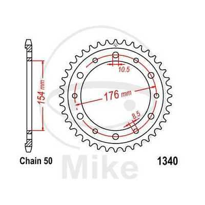 JT Chain//Sprocket Kit 12-50 Tooth 420 Pitch 71-8280