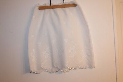 Jupon, jupe, 1950 vintage en coton broderie anglaise taille 42/44