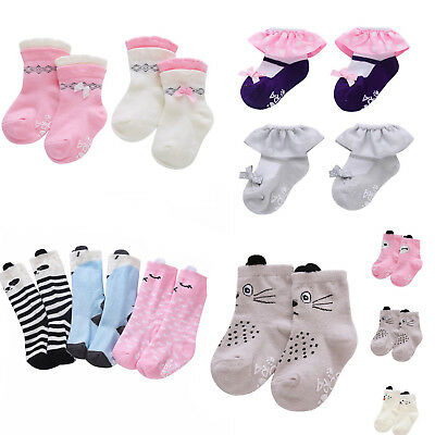 Newborn Baby Boy Girl Ankle Socks Toddler Kids Soft Non-slip Ruffle Socks 0-24M