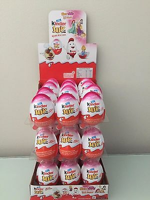 Kinder joy with surprise eggs in toy chocolate for girls 12 eggs with container