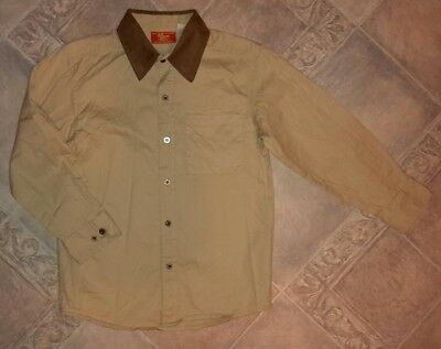 rm williams childens / kids light beige & brown shirt size 8