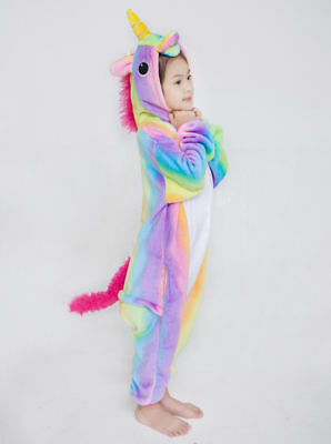Kids Unicorn tenma Kigurumi Animal Cosplay Costume Onesie10 Pajamas Sleepwear