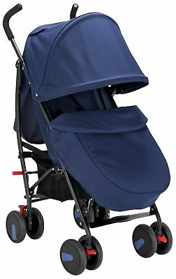 Cuggl Maple Pushchair Stroller Package Inc Raincover and Footmuff - Navy (b)