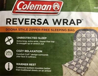 Coleman 10 Degrees REVERSA WRAP (DOONA STYLE - NO ZIPPERS) Size 165 x 198 x 96cm