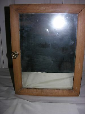 Vintage Antique Primitive Mirror Wooden Medicine Cabinet Rustic Farm